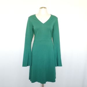 Ann Taylor Loft Emerald Green Fit and Flare Dress